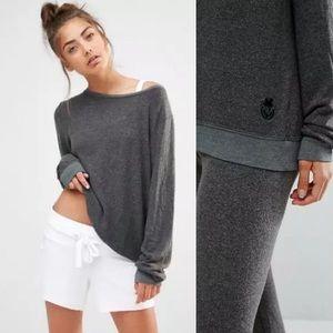 Wildfox Dirty Black Baggy Beach Sweatshirt Sweater